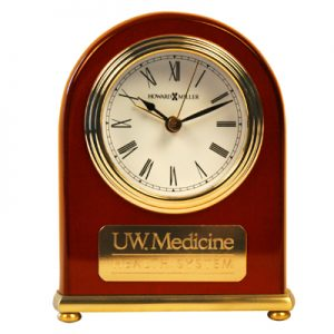 25 yrs award UW Medicine Arch Clock