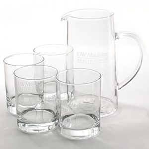 30 yrs award UW Medicine Pitcher & Tumblers Set