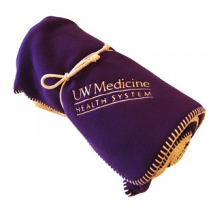 15 yrs award UW Medicine Fleece Blanket