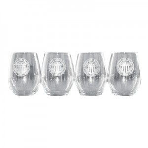 25 yrs award Stemless Wine Glass Set