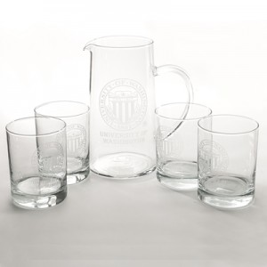 30 yrs award University Seal Pitcher & Tumblers Set