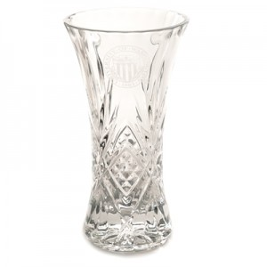 35+ yrs award University Seal Crystal Vase